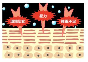生活環境帶來的肌膚傷害